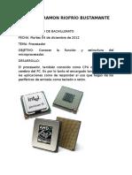 El procesador en informatica