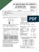 Prova olimpiada de quimica junior 2015