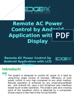 Remote AC Power Control by Android Application With LCD Display
