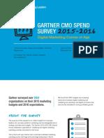Gartner CMO Spend Survey 2015-2016 - Digital Marketing Comes of Age (GartnerForMarketers.com)