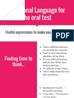 Functional Language for C1 Oral Test