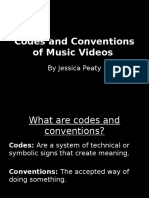 Codes and Conventions of Music Videos