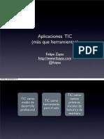 Aplicaciones TIC (más que herramientas)