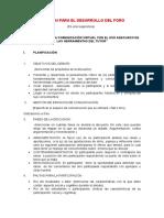 GUIÓN PARA EL DESARROLLO DE FORO GRUPO N°2