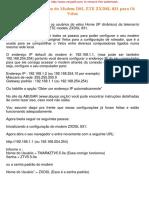 Guia de Configuração Do Modem DSL ZTE ZXDSL 831 Para Oi Velox