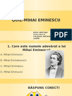 QUIZ Mihai Eminescu