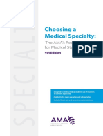 Choosing a Medical Specialty Resource Guide