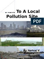 Visit to a Local Pollution Site by YASHRAJ