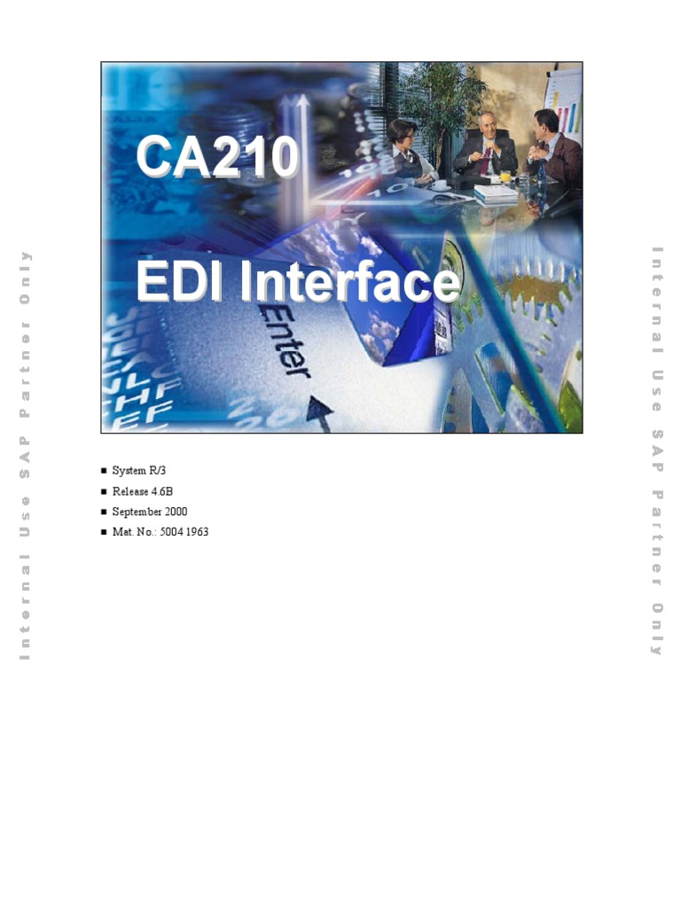 CA210 EDI Interfacepdf Electronic Data