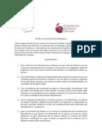 Declaracion Sobre Venezuela