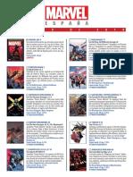 Catálogo AGOSTO 2016 Marvel