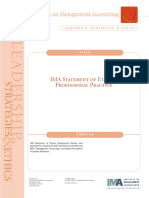 IMA Statement of Ethical Professional Practice