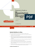 Beginners Guide Business Blogging