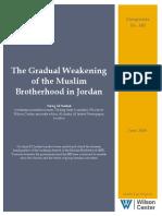 The Gradual Weakening of the Muslim Brotherhood in Jordan
