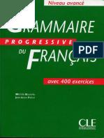 Grammaire Progressive Du Français-niveau Avancé