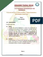 Bases Del Concurso de Ponencias Estudiantiles y Post Grado - Preconadepc Tacna 2016