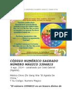 Codigo Numerico Sagrado Numero Magico 3396815 Por Agesta
