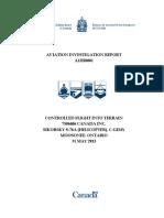 Aviation Investigation Report