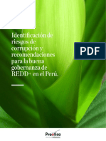 Identificación de riesgos de corrupción y recomendaciones para la buena gobernanza de REDD+ en el Perú