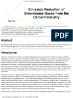 Emission Reduction of Greenhouse Gases From the Cement Industry