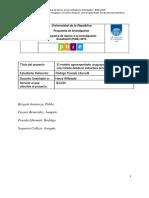 Proyecto Investigación PAIE CSIC