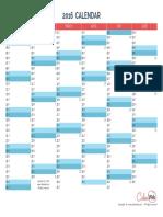 2016 Semiannual Calendar