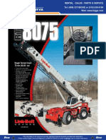Link Belt RTC 8075 Specifications