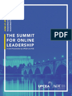 2016 Summit for Online Leadership Program