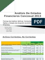 Análisis de Estados Financieros Cencosud 2013