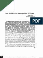 Zum Problem Der Ontologischen Erfahrung - Eugen Fink