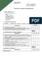 Ficha de Evaluacion de Sesion de Aprendizaje Actualizado 2016[1]