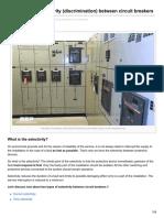 Basics of Selectivity Discrimination Between Circuit Breakers