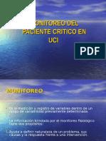 Monitorización Del Paciente Crítico, Manual, Instrumental y Electrónica.