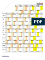 2016 Calendar Landscape Linear