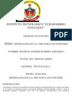 Metrologia en La Mecanica Automotriz Rogelio