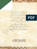 John Ross Funeral Program