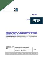 INTE OHSAS 18002 2011