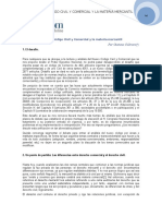 2. El Nuevo Codigo Civil y Comercial y La Materia Mercantil. Gustavo Cultraro