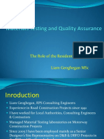 Material Testing and Quality Assurance - Role of Resident Engineer