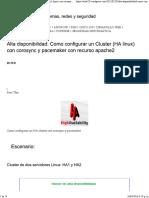 Alta Disponibilidad Cluster Linux