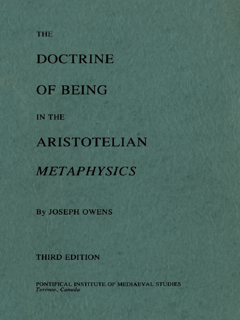 doctrine.of.Being.in.the.aristotelian.metaphysics.by.Joseph.owens ...