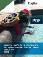 Una evaluación de la gobernanza del financiamiento para el cambio climático