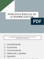Principios Básicos de La Normalización.