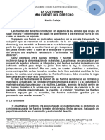 8. La Costumbre Como Fuente Del Derecho. Martín Calleja