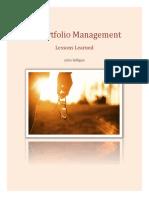 IT Portfolio Management Lessons Learned