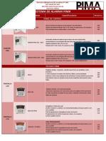Lista de Productos Pima 2015