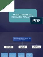 Modalidades Del Despacho Aduanero