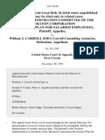 Pension Admin. v. Carroll, 14 F.3d 44, 1st Cir. (1993)