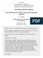 Pilgrim v. Tufts University, 118 F.3d 864, 1st Cir. (1997)