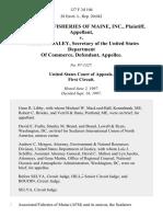 Associated Fisheries v. US Secretary of, 127 F.3d 104, 1st Cir. (1997)